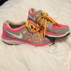 Nike Dual Fusion Pink Grey White Orange